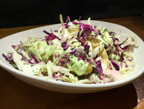 Beer Battered Avo Taco mexican vegan food restaurant healthy lifestyle