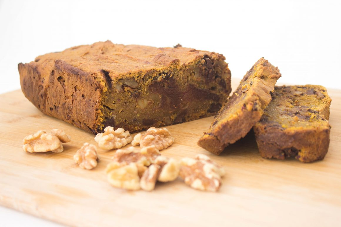 vegan Pumpkin bread chocolate chips healthy